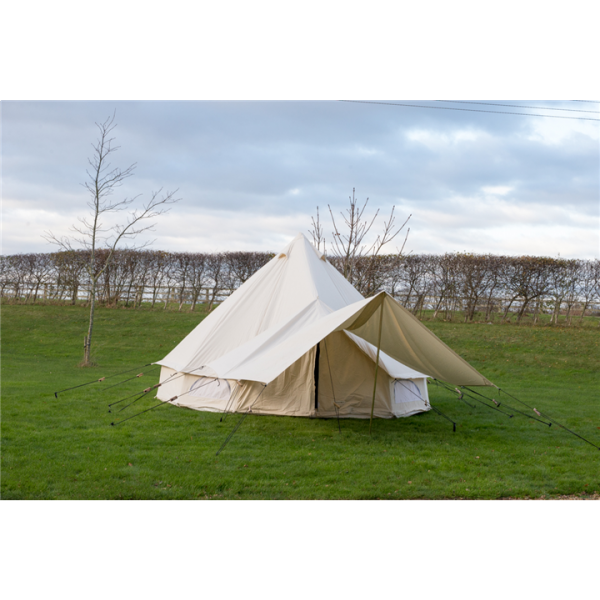 Canvas Bell tent Awning 3.6M X 2.4M