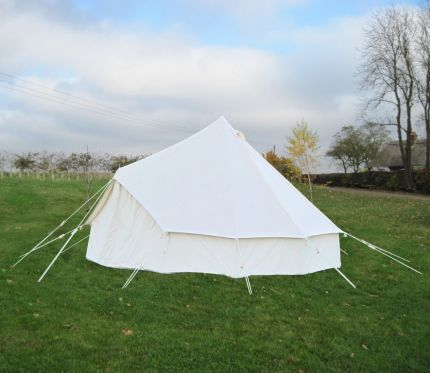 4M BELL TENT - KOKOON WITH PEGGED IN GROUNDSHEET EX DISPLAY, SOME MARKS ON CANVAS