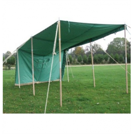Canvas Cook Shelter 12F x 9F – Height 8FT Front 6FT Rear – 100% Cotton Canvas