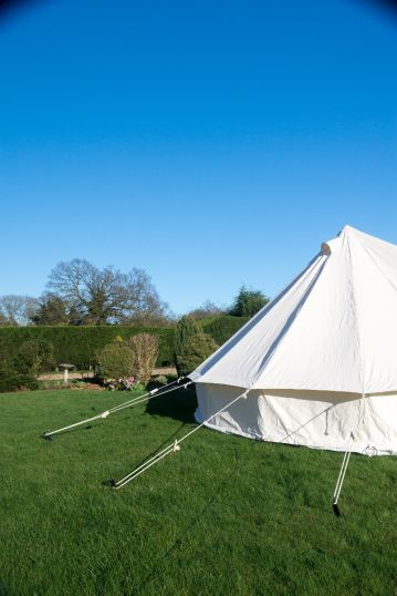 5M BELL TENT - KOKOON WITH ZIPPED IN GROUNDSHEET & CHIMNEY FITTING