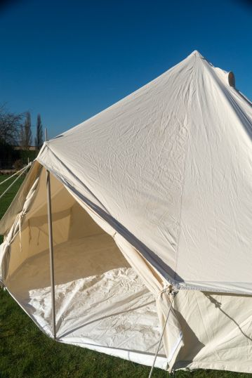 4M BELL TENT - KOKOON WITH ZIPPED IN GROUNDSHEET - USED