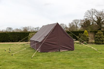 PATROL TENT - BROWN 14 X 14' 450 gsm Cotton canvas