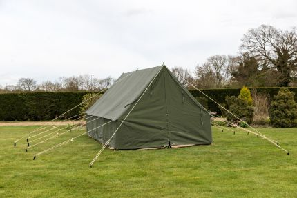 PATROL TENT - OLIVE GREEN 14 X 14' 450Gsm Cotton canvas