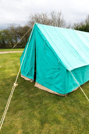 PATROL TENT - SCOUT GREEN 14 X 14' 450Gsm Cotton canvas