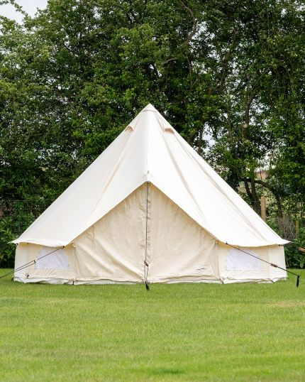4M Bell Tent with Zipped PVC Groundsheet & 100% Cotton Canvas - Kokoon Deluxe - Used