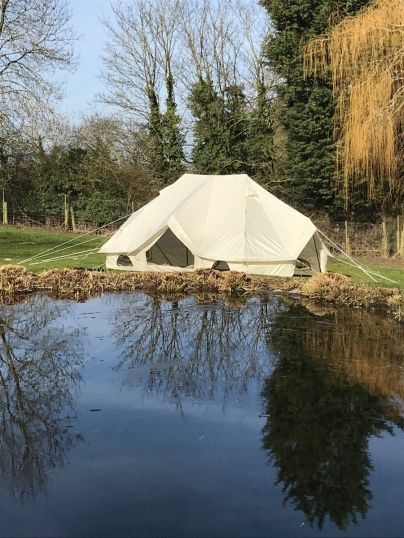 Meadow Tent 6M x 4M Fits 3 Double Beds with Oxford Fabric - No Mould or Mildew - Used With Slight Marks on Canvas