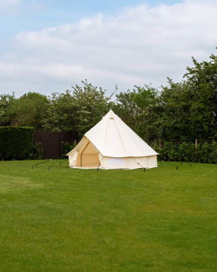 3M Spacious Bell Tent with PVC Groundsheet & 100% Cotton Canvas - Glade