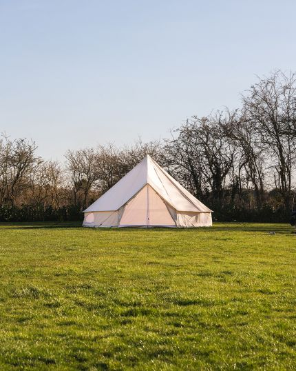 5M Bell Tent with Zipped PVC Groundsheet & 100% Cotton Canvas - Kokoon Deluxe
