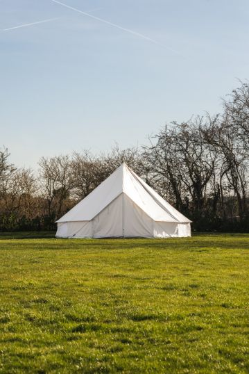 6M BELL TENT - KOKOON DELUXE WITH ZIPPED IN GROUNDSHEET