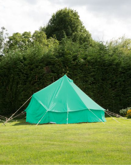 5M BELL TENT - SCOUT GREEN KOKOON WITH PEGGED IN GROUNDSHEET