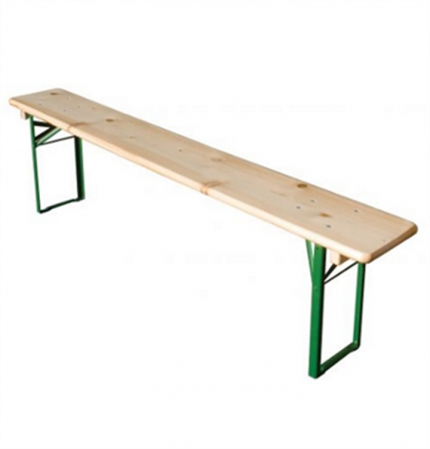 WOODEN TRESTLE BENCH SET OF 2 SLIGHT IMPERFECTIONS
