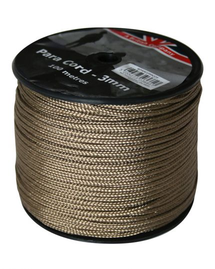 PARACORD REEL BROWN - 100M