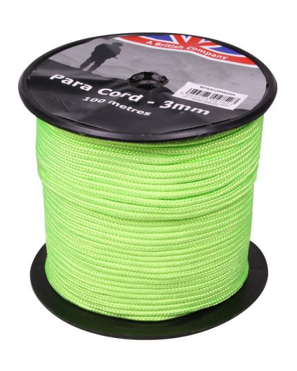 PARACORD REEL NEON GREEN - 100M