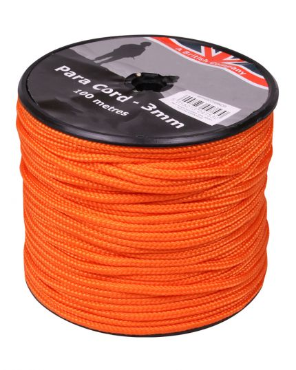 PARACORD REEL NEON ORANGE - 100M