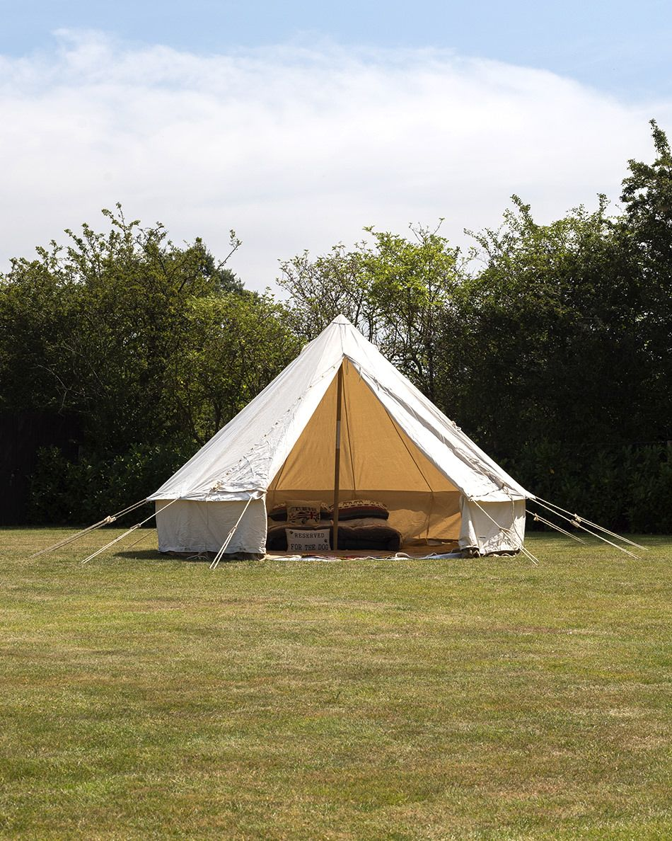 huge selection of b9153 4780a 5M BUSHCRAFT BELL TENT WITH CHIMNEY FITTING– A TRADITIONAL STYLE BELL TENT  - USED, SOME STAINS ON CANVAS