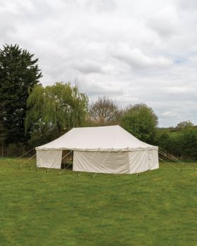 Canvas Marquee for Gardens 16F x 32F Waterproof with 100% Cotton Canvas