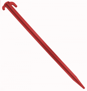 12 INCH PLASTIC PEGS - PACK OF 10