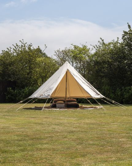 4M Bushcraft Traditional Bell Tent with 100% Cotton Canvas