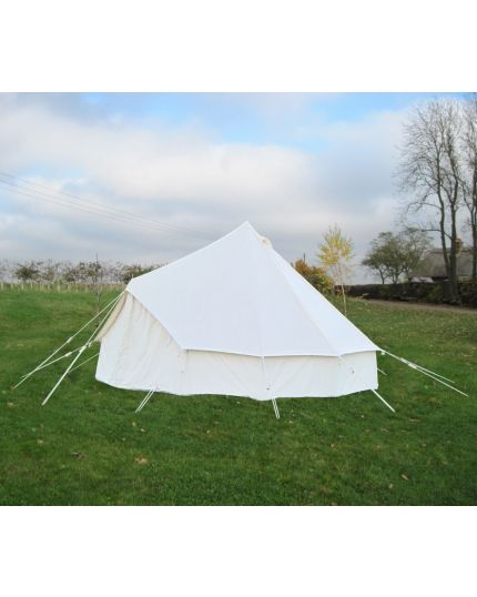4M Bell Tent with Pegged PVC Groundsheet & 100% Cotton Canvas – Kokoon - Ex Display