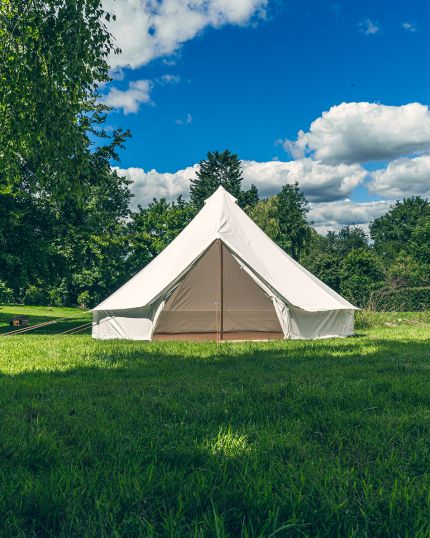 6M Bell Tent with Zipped PVC Groundsheet & 100% Cotton Canvas - Kokoon Deluxe