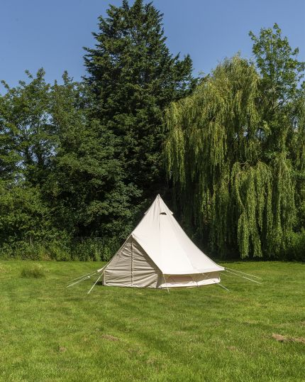 4M Canopy Bell Tent with Detachable Canopy & 100% Cotton Canvas - Ex Display