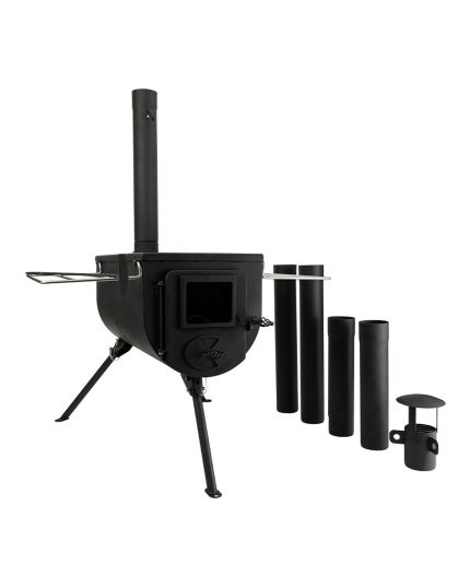 WinnerWell Deluxe Portable Woodburner Stove for Bell Tent – 15kg Portable Lightweight - Free Carry Bag