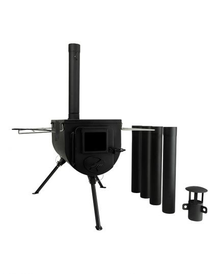 WinnerWell Plus Portable Woodburner Stove for Bell Tent – 15kg Portable Lightweight - Top Lid & Free Carry Bag
