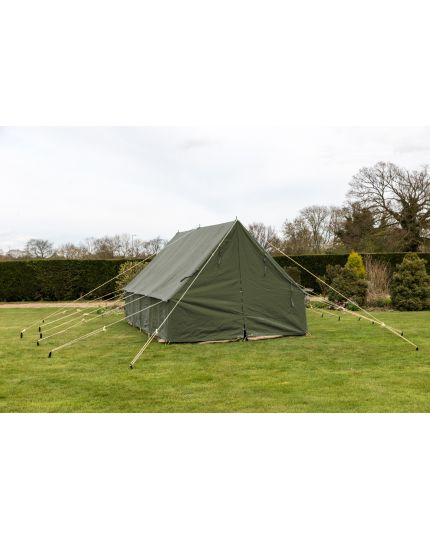 Patrol Tent 14F x 14F Olive Green 44KG & Sleeps 10+ People - Ex Display