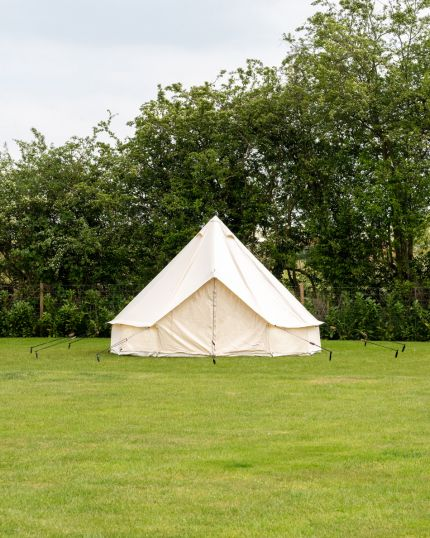 4M Bell Tent with Zipped PVC Groundsheet & 100% Cotton Canvas - Kokoon