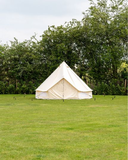 5M Bell Tent with Zipped PVC Groundsheet & 100% Cotton Canvas with Chimney Fitting - Kokoon - Ex-display, NOT USED