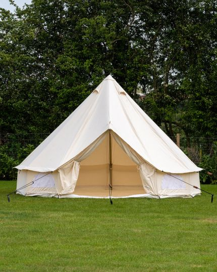 4M Bell Tent with Zipped PVC Groundsheet & 100% Cotton Canvas - Kokoon Deluxe - Ex Display