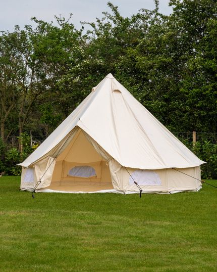 4M Spacious Bell Tent with PVC Groundsheet & 100% Cotton Canvas - Glade - New, Damaged box