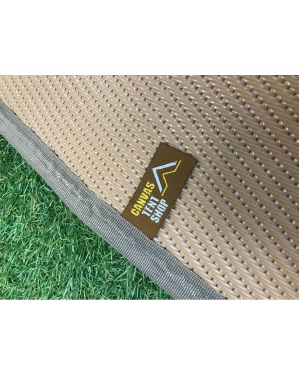 Polypropylene Matting for 4M & 5M Bell Tents – Full & Half Moon – Frosted Taupe - 5m Half Moon ex Display