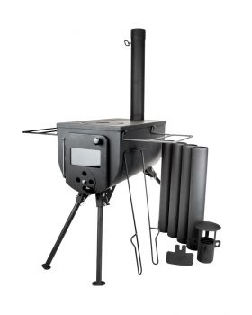 Bushcraft Portable Woodsman Stove for Bell Tent 12.9kg – Free Carry Bag