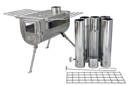 Winnerwell Woodlander Double View Wood Burning Camping Stove - Size L