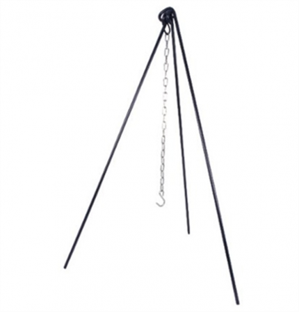 Camp Fire Tripod Stand Heavy Duty Steel – Suitable for Dutch Ovens & Pans
