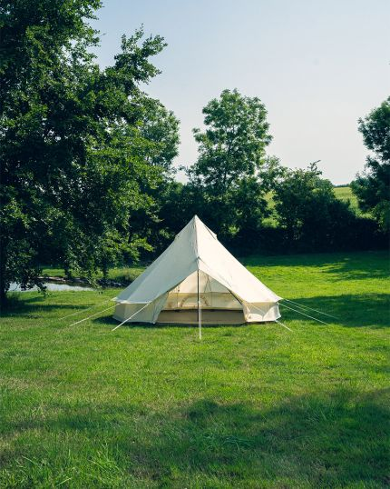 5M Bell Tent Lite 22KG with Groundsheet & Oxford Fabric - No Mould or Mildew