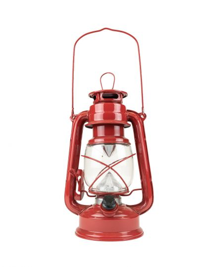 Lantern with 16x LED's - 360 ° Light with Dimmer – Red