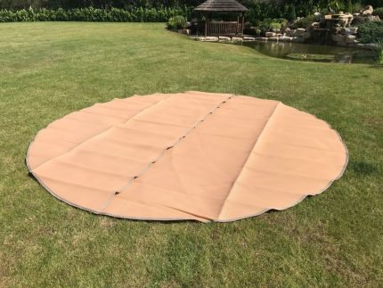 Polypropylene Matting for 3M - 6M Bell Tents – Full & Half Moon – Frosted Taupe