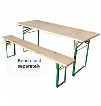 Wooden trestle Table with Metal Legs – Sturdy Reliable & Easy to Store